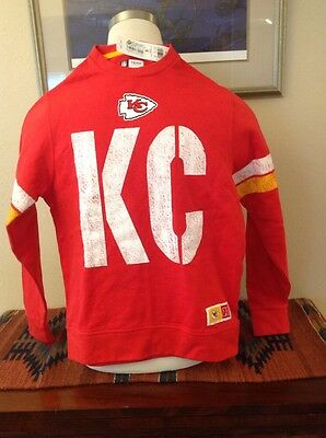 Kansas City Chiefs NFL Team Apparel Long Sleeved Sweat Shirt Small NEW