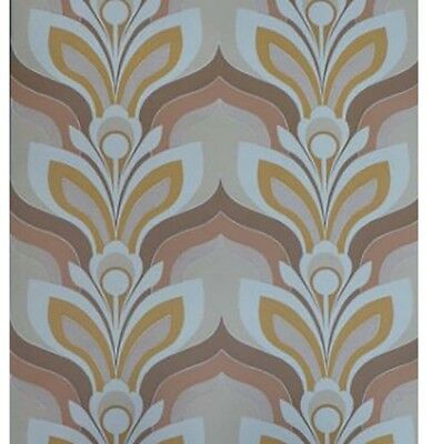 1970s Cool Color option #2 - ORIGINAL Land of Time Vintage Wallpaper 60s 70s
