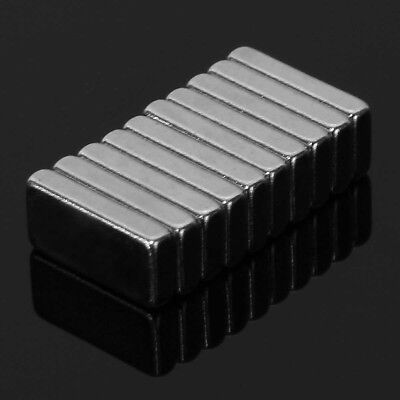 10Pcs 10x5x2mm Rectangle Block Bar Super Strong Rare-Earth Magnets N35 Gracious