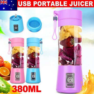Portable USB Mini Juicer Blender Shaker Vegetable Fruit Mixer Juice Maker Bottle