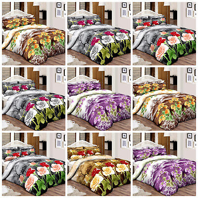 Fabulous 100% Egyptian Cotton Printed Duvet Cover Luxury Bedding Sets All Sizes