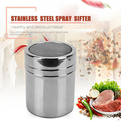 Stainless Steel Chocolate Shaker Cocoa Flour Sugar Powder Coffee Spray Sifter