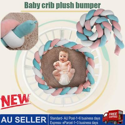 Plush Crib 2 Meter Baby Infant Bumper Bed Bedding Cot Braid Pillow Pad Rope knot