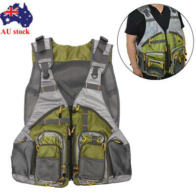Fly Fishing Vest Mutil-Pocket General Size Adjustable Sport Outdoor Mesh Vest