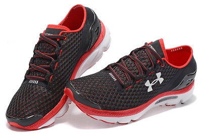 UNDER ARMOUR Speed Form Gemini Men's GYM Running Road Sports Shoes  Black+Red