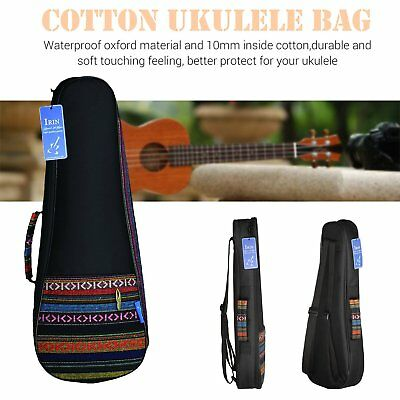 Ukulele Bag National Style Concert Ukelele Backpack Case 6mm Cotton Straps 1&