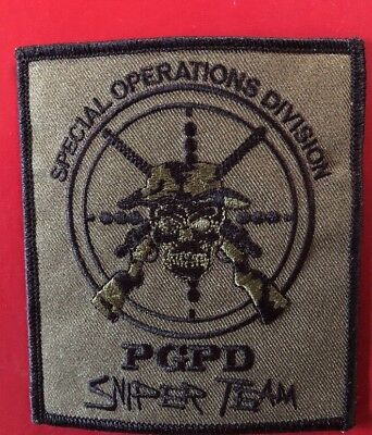 Prince George Police Department Special Operations Division Sniper Team Patch.