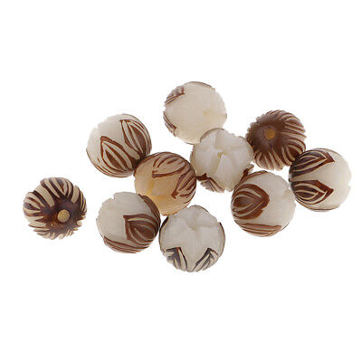 10x Lotus Flower Loose Beads Bodhi Seed Spacer Beads Jewelry Making Findings