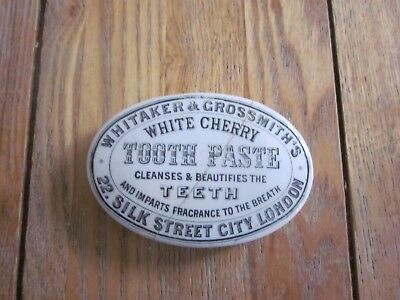 Whitaker & Grossmith's Oval Toothpaste Pot Lid London