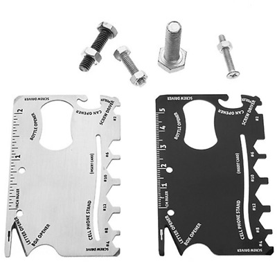 14in1 stainless steel Multi Purpose Credit Card Survival Outdoor Camping Tools U