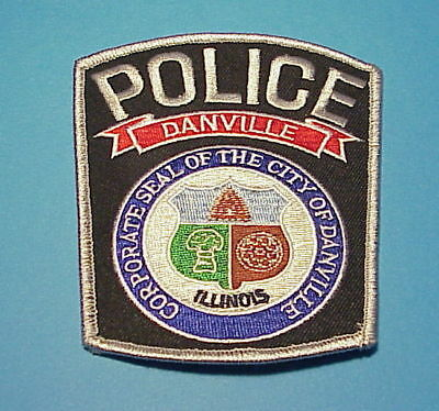 Danville   Illinois  Il  Police Dept. Patch  Free Shipping!!!