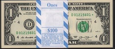 2013 $1 Pack Fresh Federal Reserve Cleveland D *(fw)  Note Pack