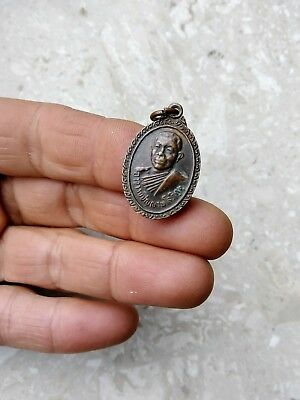 Very old vintage bronze Buddhist amulet. Good luck talisman charm