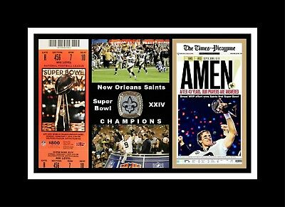 225f6540b Drew Brees New Orleans Saints Super Bowl 44 Matted Multi Image Photo  Collage  2