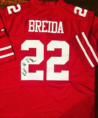9df51d8d0a1 Matt Breida Signed San Francisco 49ers Jersey Proof Coa Auto W  Inscription