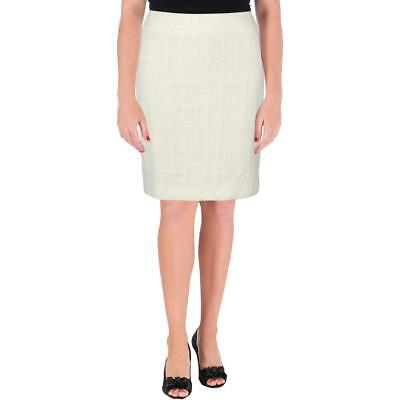 Tahari Womens Blue Pleated Office Wear to Work Pencil Skirt 12 BHFO 1170