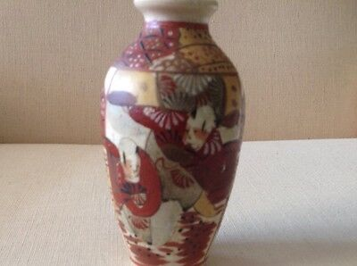 Antique Meiji period Japanese Satsuma Vase