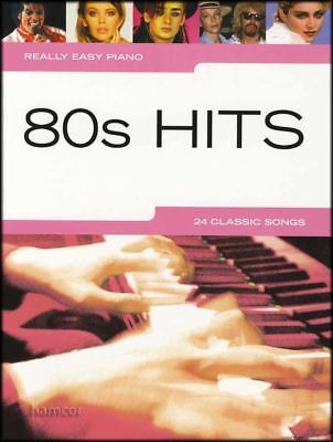 Really Easy Piano 80s Hits Sheet Music Book Songbook 24 Classic Pop Songs