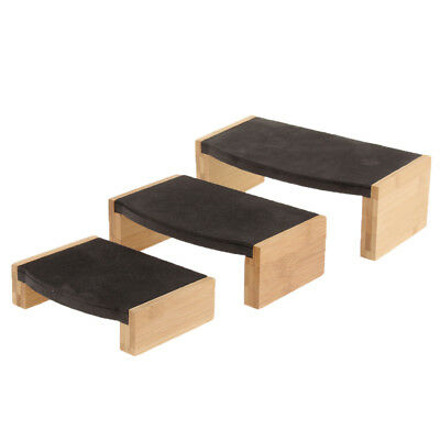 Wood Jewelry Tray Necklace Ring Display Stand Rack Holder Black Velvet
