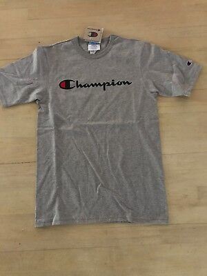 171a07d17 GREY CHAMPION LIFE Men's Heritage Tee Champion Script Logo - $21.99 ...
