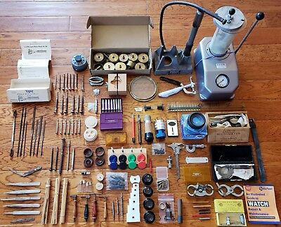 Vintage Watchmaker's Tool Lot Bergeon Peerless Watch-Craft K&D LG Vigor Swiss