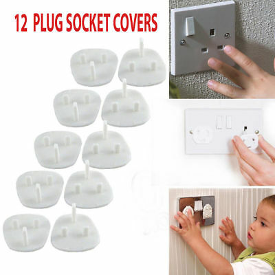 10x Plug Socket Covers Babies Children's Safety Protector for UK 3 Pin Sockets