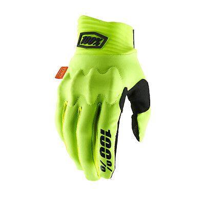 100% Cognito Fluo Yellow Black Motocross Gloves Large