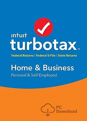 Turbotax Home & Business 2018 (Latest) for Windows and Mac
