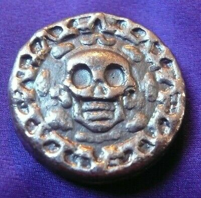 25 g Yeager's Hand Poured 999 Silver Round Plata Muerta Dead Silver YPS (117)