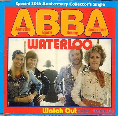 ABBA Waterloo 30th Anniversary UK CD Single 2004 *Agnetha Frida Mamma Mia SOS