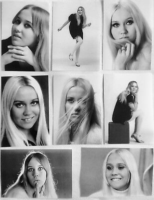 AGNETHA FALTSKOG 60's B&W Photo Set 1 *ABBA Mamma Mia Frida SOS Swedish