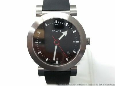 Brand NEW Offroad No 1 Xemex 205.69 Black Dial Rubber Strap Watch Retail $895