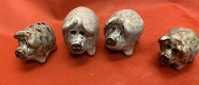 4- Owens, N C Art Pottery, Janet Bolick, Figural  Pigs
