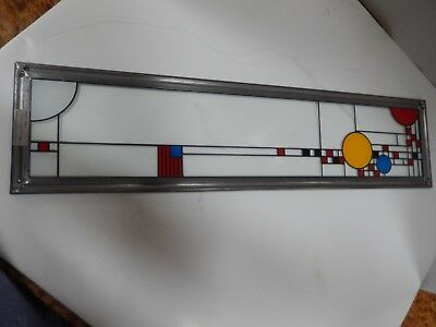 Vintage Frank Lloyd Wright Inspired Art/stained Glass Hanging Panel  Coonley