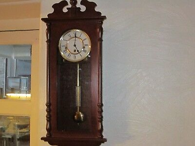 Vintage William Widdop By Hermle Westminster Chiming Wall Clock In V.g.w.o.