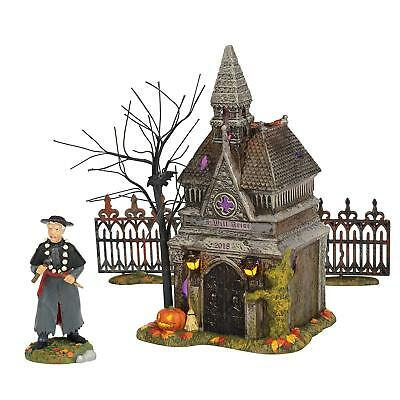 Rest in Peace 2018 Dept 56 Snow Village Halloween 6002304 vampire crypt tomb A