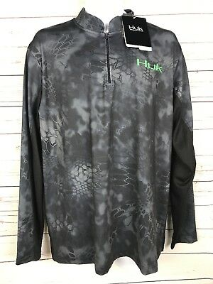 HUK Kryptek Fade Icon Long sleeve New With Tags Blue Size Small Retail $54.99