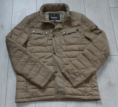 """Barbour International """"M"""" Stock Jacket *Fibre Down* Mens Quilted Hooded Coat"""