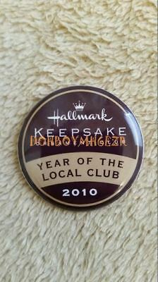 Hallmark 2010 Year of the Local Club Collector's Button Lapel Pin