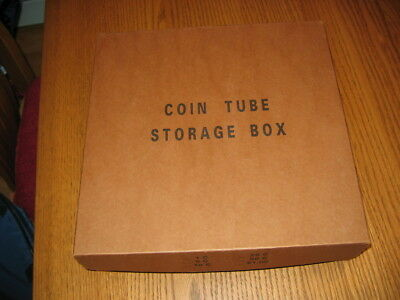 Coin Box Heavy Duty In Mint Condition With 50 Plastic Quarter Size Coin Tubes