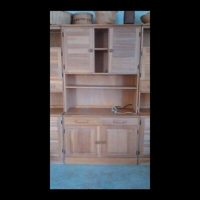 A. Brandt Ranch Oak Tall Wall Cabinet Western Furniture 76 x 41 inches