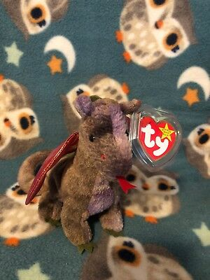 Ty Beanie Baby Babies RARE Scorch the Dragon Plush Stuffed Toy