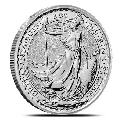 1 - 2019 British Britannia - 1 oz. 999 Pure Silver Coin - Brilliant Unc.