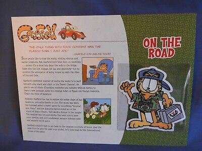 Garfield Collection Patch * On The Road * Comic Strip, Jim Davis, New * Rare