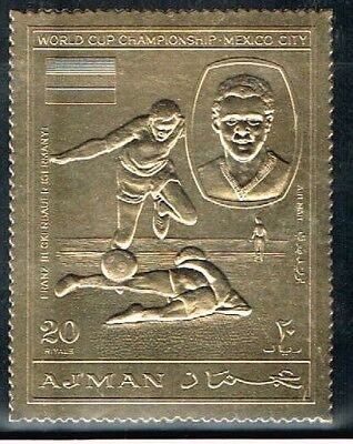 Ajman.1970 World Cup.Soccer.Football.Fussball.Gold.MNH.**