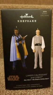 SDCC 2018 Exclusive Hallmark Keepsake Star Wars Lando & Lobot Ornaments