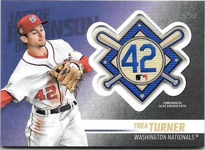 Trea Turner 2018 Topps Update JACKIE ROBINSON LOGO PATCH RELIC Nationals