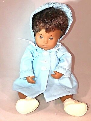 Vintage Sasha Dark Baby Girl with Hat, Coat, Shoes and Diaper African American