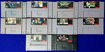 Lot of 10 Super Nintendo SNES Games Tested and Working Addams Family & more