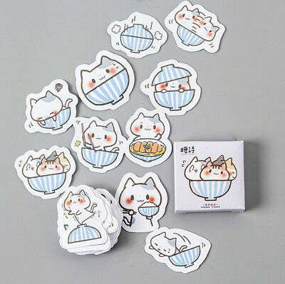 45Pcs/lot Cute Cat Stationery Stickers for DIY Diary Scrapbooking Decoration